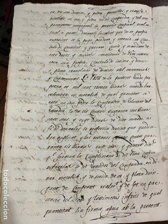 Manuscritos antiguos: Antiguo documento de 1815 - ROMANÍ - historia fabricantes de papel de Capellades, inquisicion - Foto 8 - 194535026