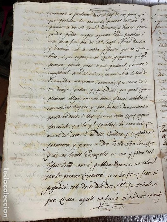 Manuscritos antiguos: Antiguo documento de 1815 - ROMANÍ - historia fabricantes de papel de Capellades, inquisicion - Foto 10 - 194535026