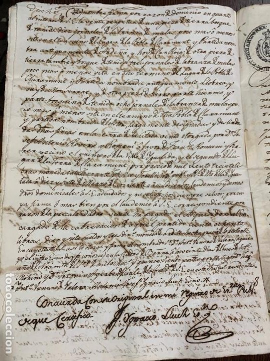 Manuscritos antiguos: Antiguo documento de 1815 - ROMANÍ - historia fabricantes de papel de Capellades, inquisicion - Foto 12 - 194535026