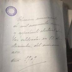 Manuscritos antiguos: ALICANTE. ONIL, CASTALLA ECCT. GRAN LEGAJO CON MAS DE 1000 PGS.. Lote 194538985