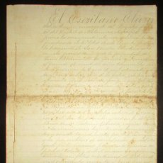 Manuscritos antiguos: ESCRITURA DE HIPOTECA DEL INGENIO AZUCARERO S. NICOLÁS TOLENTINO EN IZÚCAR, PUEBLA, MÉXICO. 1892.. Lote 194609205