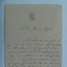 Manuscritos antiguos: CARTA MANUSCRITA DEL SIGLO XIX. . Lote 194620676