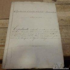 Manuscritos antiguos: CASTILLEJA DE LA CUESTA, 1918, EXPEDIENTE EXONERACION CONTRIBUCION CASA PROPIEDAD IGLESIA SANTIAGO. Lote 194624057