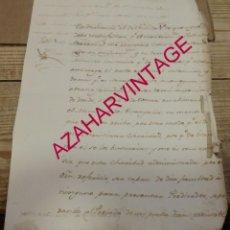 Manuscritos antiguos: 1792, ESCRITO FIRMADO POR EL ABAD DE OLIVARES, SEVILLA, 2 PAGINAS. Lote 194671355