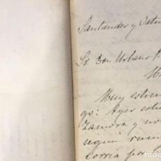 Manuscritos antiguos: BANCO DE ESPAÑA. CARTAS DE RECOMENDACIÓN A URBANO PEÑA CHAVARRI. 1914-15. Lote 194672112