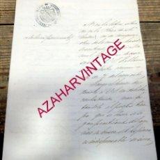 Manuscritos antiguos: JEREZ DE LA FRONTERA, 1856, ESCRITO SOBRE BUSQUEDA DE UN MOZO, 2 PAGINAS. Lote 194678447