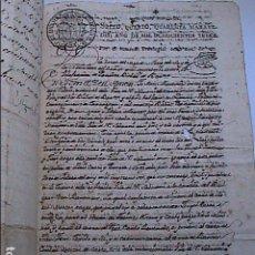 Manuscritos antiguos: LOTE DE ESCRITURAS VENTAS Y PERMUTAS DE VIÑEDOS. DESDE 1813 A 1879. VILAFRANCA DEL PENEDES.. Lote 194678786