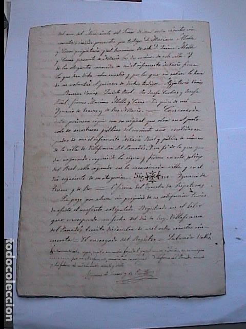 Manuscritos antiguos: MANUSCRITO SOBRE CAPITULACIONES MATRIMONIALES.1867. VILAFRANCA DEL PENEDES.BARCELONA. - Foto 4 - 194680025