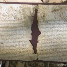 Manuscritos antiguos: MANUSCRITO - PERGAMINO SIGLO XVI.. Lote 194693915