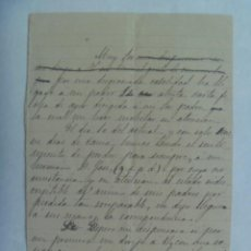 Manuscritos antiguos: CARTA MANUSCRITA DEL SIGLO XIX. Lote 194698941
