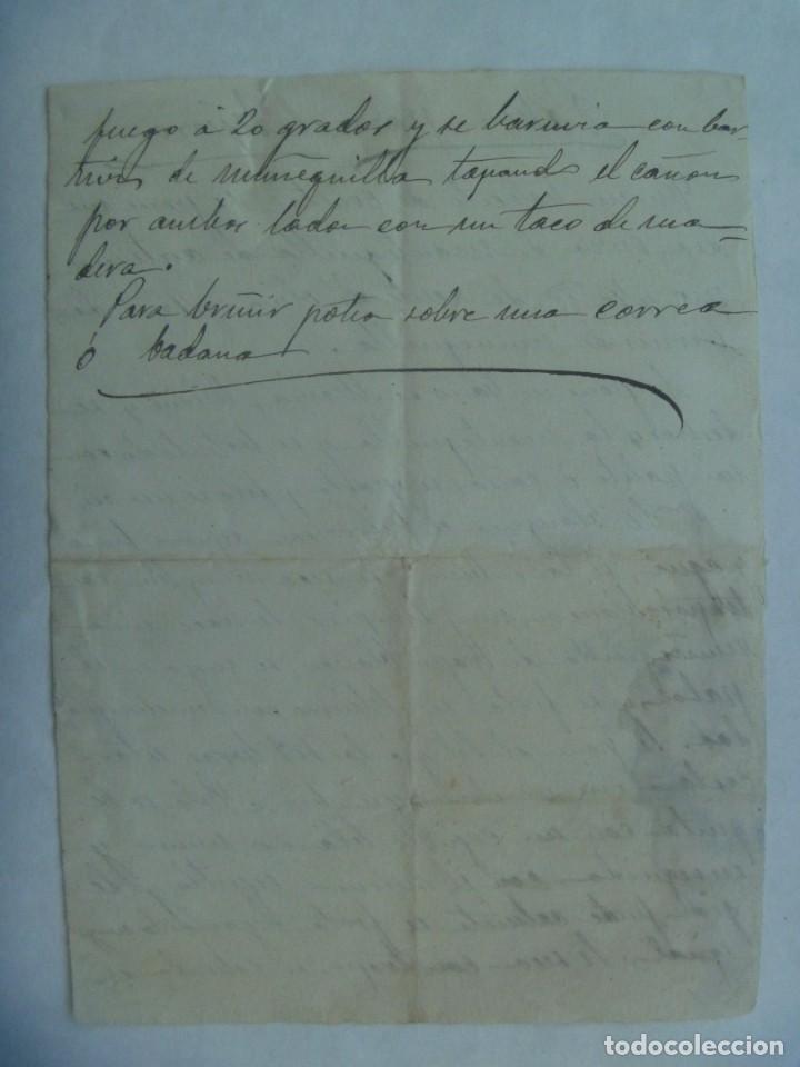 Manuscritos antiguos: RECETA DE EL PABON PARA EL HIERRO, MANUSCRITO DEL SIGLO XIX - Foto 2 - 194721241