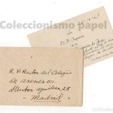Manuscritos antiguos: P. SUPERIOR RESIDENCIA COMPAÑÍA DE JESÚS. LAS PALMAS. 1949. . Lote 194728796