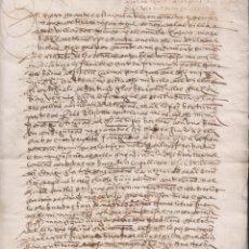 Manuscritos antiguos: FERNANDO DE TORRES Y PORTUGAL. VILLARDOMPARDO. VIRREY DEL PERÚ. ALFÉREZ MAYOR DE JAÉN. 1556. Lote 194733991