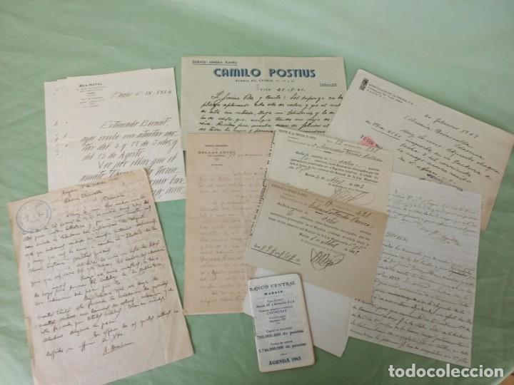 LOTE PAPELES ANTIGUOS (Coleccionismo - Documentos - Manuscritos)
