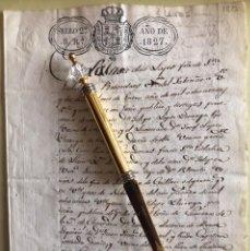 Manuscritos antiguos: LAJES- CHANTADA- LUGO- MANUSCRITO- SELLO 2º 8 REALES- FERNANDO VII- 1.827. Lote 194783268