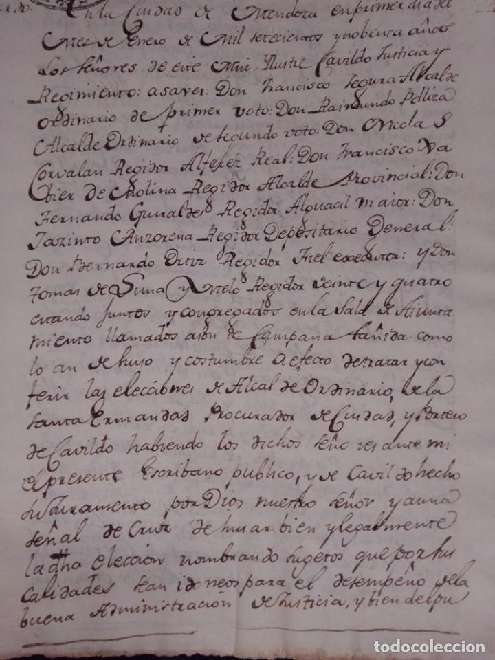 Manuscritos antiguos: documento historico de la conformacion del cabildo de Mendoza año 1793 completo - Foto 2 - 194872183
