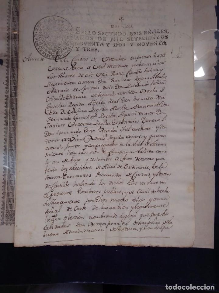 Manuscritos antiguos: documento historico de la conformacion del cabildo de Mendoza año 1793 completo - Foto 3 - 194872183