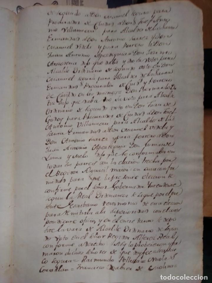 Manuscritos antiguos: documento historico de la conformacion del cabildo de Mendoza año 1793 completo - Foto 4 - 194872183