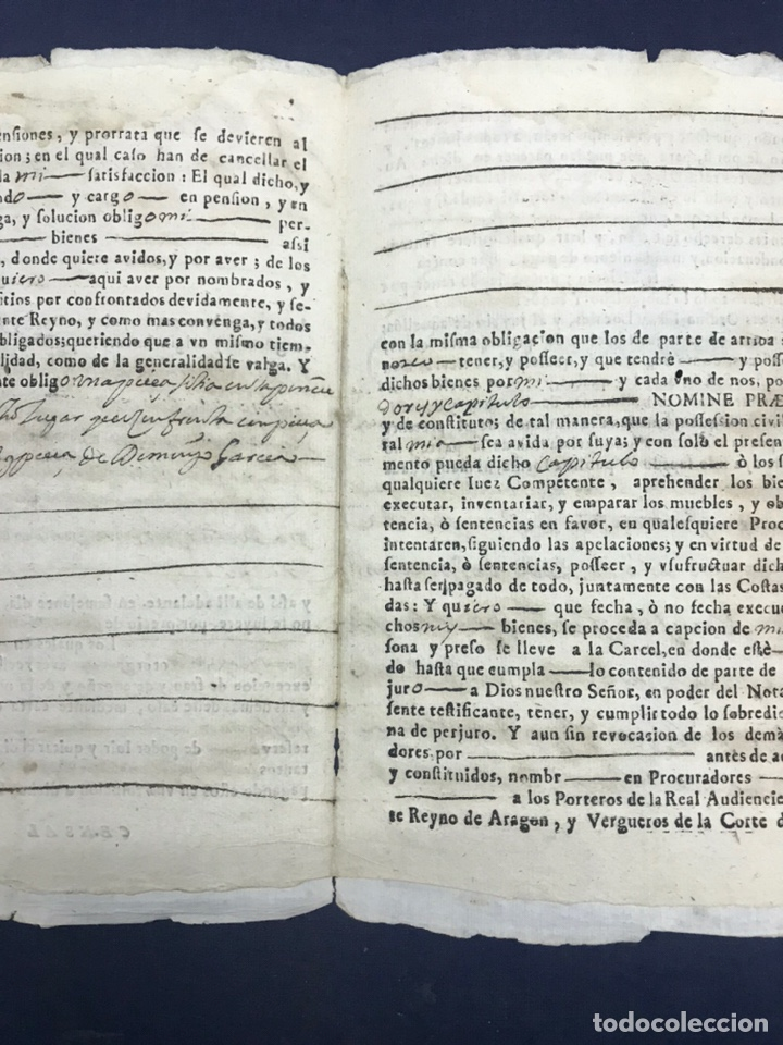 Manuscritos antiguos: 1698. ROMANOS (ZARAGOZA). IMPRESO/MANUSCRITO. CENSO - Foto 3 - 194875200