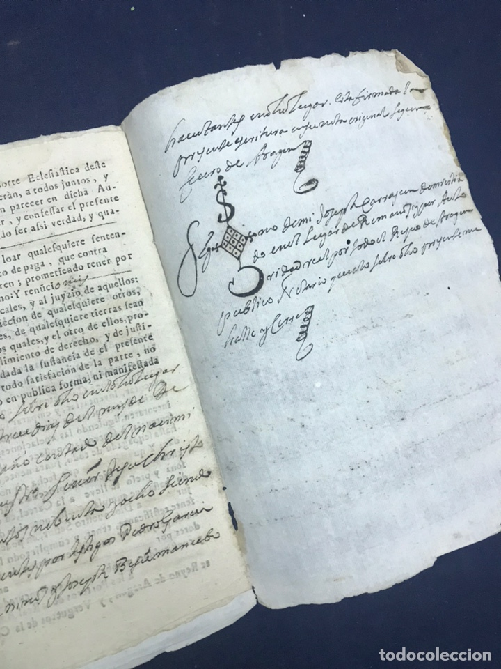 Manuscritos antiguos: 1698. ROMANOS (ZARAGOZA). IMPRESO/MANUSCRITO. CENSO - Foto 4 - 194875200