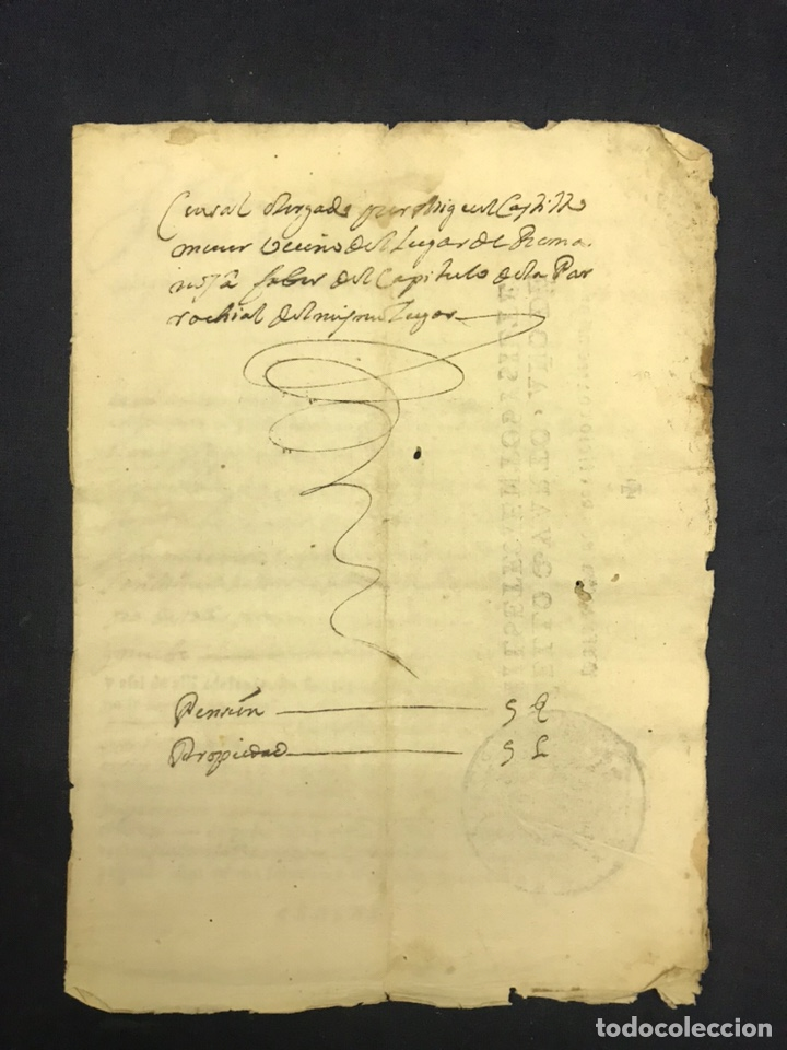 Manuscritos antiguos: 1698. ROMANOS (ZARAGOZA). IMPRESO/MANUSCRITO. CENSO - Foto 5 - 194875200