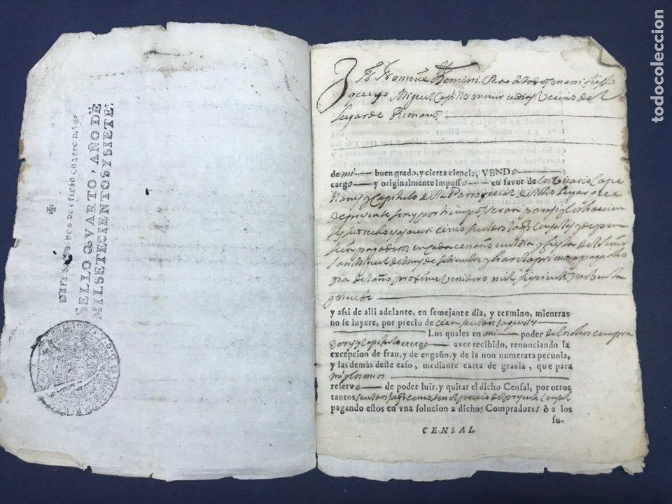 1698. ROMANOS (ZARAGOZA). IMPRESO/MANUSCRITO. CENSO (Coleccionismo - Documentos - Manuscritos)