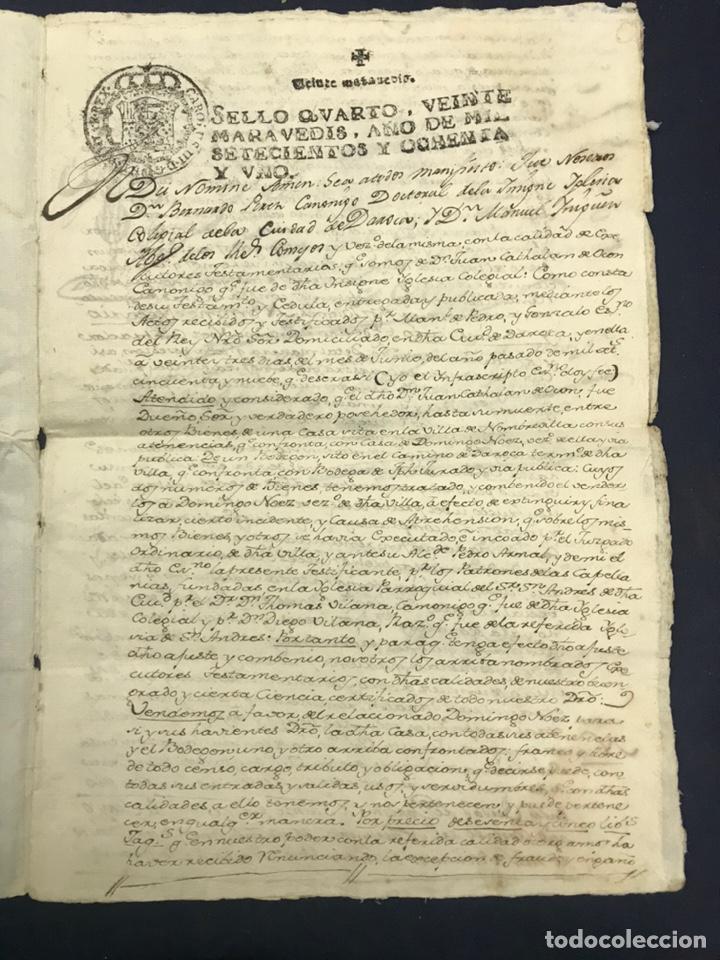 Manuscritos antiguos: 1781. VENTA DE UNA CASA Y UN BODEGÓN SITO EN NOMBREVILLA (ZARAGOZA). DAROCA - Foto 2 - 194876133