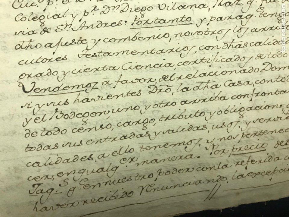 Manuscritos antiguos: 1781. VENTA DE UNA CASA Y UN BODEGÓN SITO EN NOMBREVILLA (ZARAGOZA). DAROCA - Foto 3 - 194876133