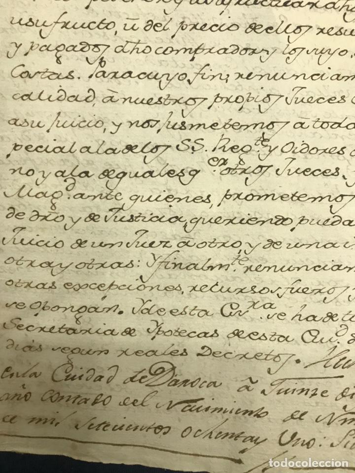 Manuscritos antiguos: 1781. VENTA DE UNA CASA Y UN BODEGÓN SITO EN NOMBREVILLA (ZARAGOZA). DAROCA - Foto 4 - 194876133