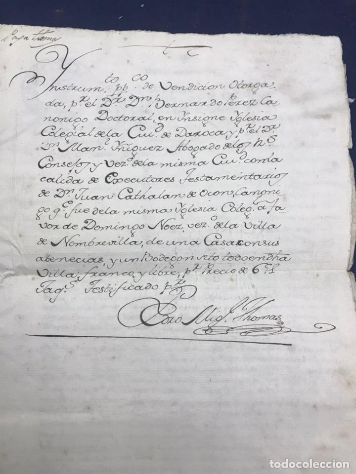 1781. VENTA DE UNA CASA Y UN BODEGÓN SITO EN NOMBREVILLA (ZARAGOZA). DAROCA (Coleccionismo - Documentos - Manuscritos)