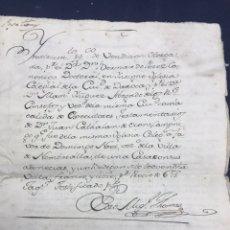 Manuscritos antiguos: 1781. VENTA DE UNA CASA Y UN BODEGÓN SITO EN NOMBREVILLA (ZARAGOZA). DAROCA. Lote 194876133
