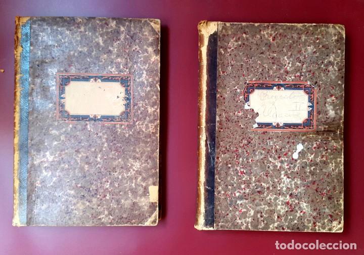 FERROCARRIL - 1870'S - VAL DE ZAFAN - SAN CARLOS DE LA RAPITA - 2 VOL. - PRESUPUESTOS Y MEMORIA (Coleccionismo - Documentos - Manuscritos)