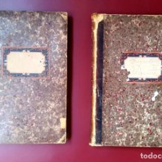 Manuscritos antiguos: FERROCARRIL - 1870'S - VAL DE ZAFAN - SAN CARLOS DE LA RAPITA - 2 VOL. - PRESUPUESTOS Y MEMORIA. Lote 194896756