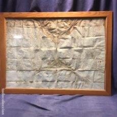 Manuscritos antiguos: MANUSCRITO PERGAMINO LATIN BADAJOZ ECLESIASTICO S XVII 56,5X76,5CMS URBANO VIII HOJAS ACANTOS. Lote 194921430