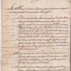 Manuscritos antiguos: SOBRE PAGA DE LOS SOLDADOS MUERTOS Y DESPEDIDOS EN PRESIDIOS. FUENTERRABÍA Y SAN SEBASTIÁN. 1625. Lote 194941355