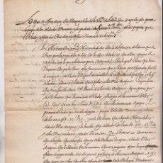 Manuscritos antiguos: SOBRE PAGA DE LOS SOLDADOS MUERTOS Y DESPEDIDOS EN FUENTERRABÍA Y SAN SEBASTIÁN. PAÍS VASCO. 1625 . Lote 194941743