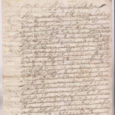 Manuscritos antiguos: ORDEN. DUQUE DE CIUDAD REAL AL ALCAIDE DE FUENTERRABÍA. 1618. SOCORROS A GENTES DE GUERRA. Lote 194943275