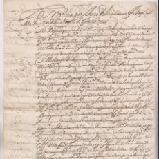 Manuscritos antiguos: PARECER AL DUQUE DE CIUDAD REAL SOBRE SOCORROS GENTE DE GUERRA DE FUENTERRABÍA. PAÍS VASCO. 1616. Lote 194943620