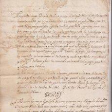 Manuscritos antiguos: COPIA DE DOS CÉDULAS REALES. SOBRE SATISFACCIÓN DE LA GENTE DE GUERRA. FUENTERRABÍA. CIRCA 1611. Lote 194943788