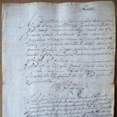 Manuscritos antiguos: 1669. COLONIAS. VENEZUELA. GOBERNADOR Y MAESTRE DE CAMPO. JUAN BRAVO DE ACUÑA. Lote 194961790