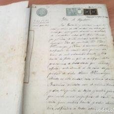 Manuscritos antiguos: CERTIFICADOS DE GRAVAMENES MANUSCRITO DE PROPIEDADES BARCELONA 1899 (AB-1). Lote 194996138