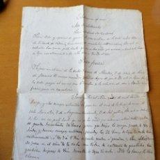 Manuscritos antiguos: ELABORACIÓN DE VINOS, PARA 100 CANTARAS, PARA FUERZA..J.Mª SANJUAN ELABORADOR DE LA VILLA DE AZAGRA. Lote 195022600
