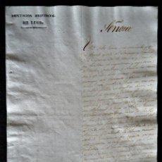 Manuscritos antiguos: GALICIA.LUGO.PETICION DE LA DIPUTACION A LA REINA PARA PACIFICAR LA PROVINCIA.1ªGUERRA CARLISTA 1836. Lote 195035760