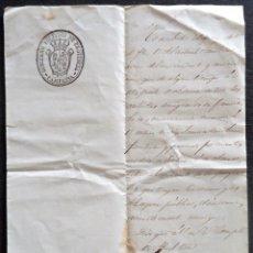 Manuscritos antiguos: NAVARRA.CARLISMO.OFICIO DEL GOBERNADOR POLITICO AL ALCALDE CORREGIDOR DE ELIZONDO 1848. Lote 195037188