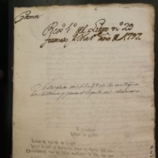 Manuscritos antiguos: ANTIGUO DOCUMENTO MANUSCRITO, 1797 CAMAS. SELLO CAROLUS IV. HISPANIARUM REX.. Lote 195058668