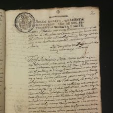 Manuscritos antiguos: ANTIGUO DOCUMENTO MANUSCRITO, 1797 CAMAS. SELLO CAROLUS IV. HISPANIARUM REX.. Lote 195058687