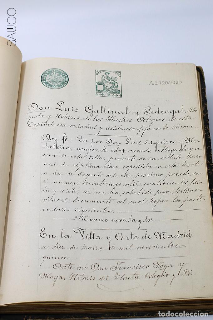 Manuscritos antiguos: TESTIMONIO CONDE DE MALUQUE 1915 - Foto 4 - 195117322