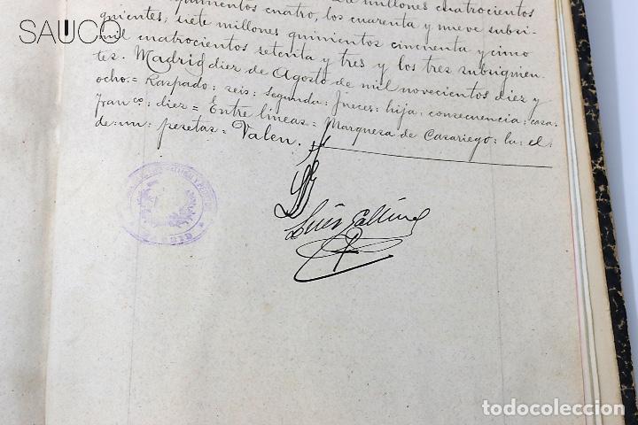 Manuscritos antiguos: TESTIMONIO CONDE DE MALUQUE 1915 - Foto 8 - 195117322