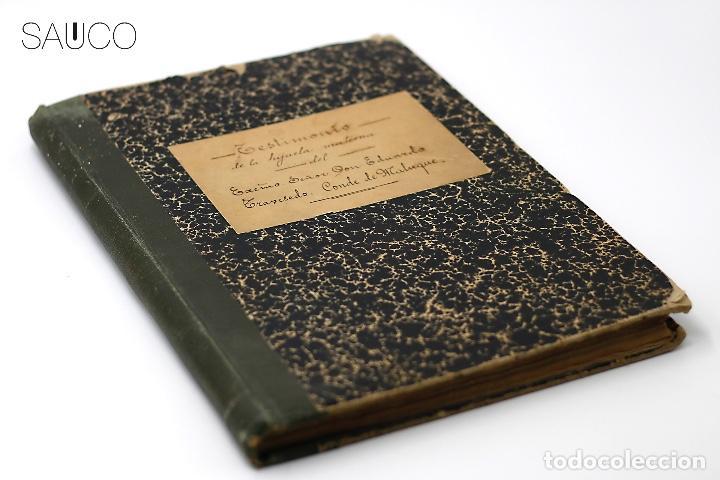 Manuscritos antiguos: TESTIMONIO CONDE DE MALUQUE 1915 - Foto 9 - 195117322