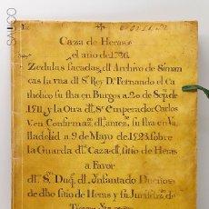 Manuscritos antiguos: MANUSCRITO CAZA DE HERAS 1726. Lote 195119752